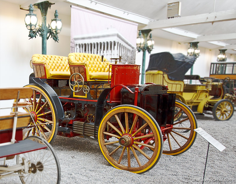 Автомузей; Национальный музей автомобилей, Мюлуз (Mulhouse), Франция; Menier Double Phaeton, 1893
